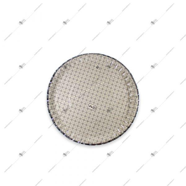 دیس یک بار مصرف مقوایی سه لایه دایره قطر 27
