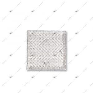 دیس مقوایی یکبار مصرف سه لایه مربع