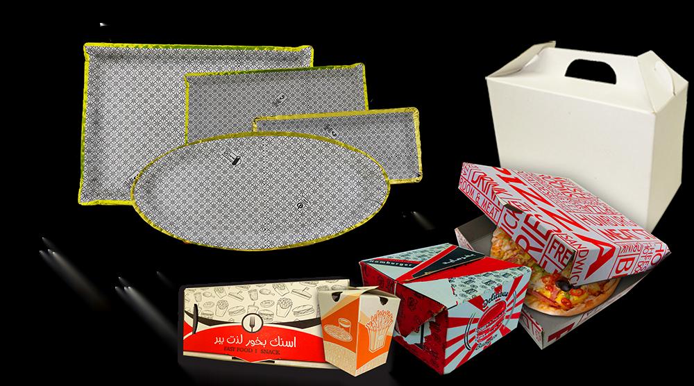 خرید جعبه پیتزا جعبه فست فود و دیس های مقوایی یکبار مصرف