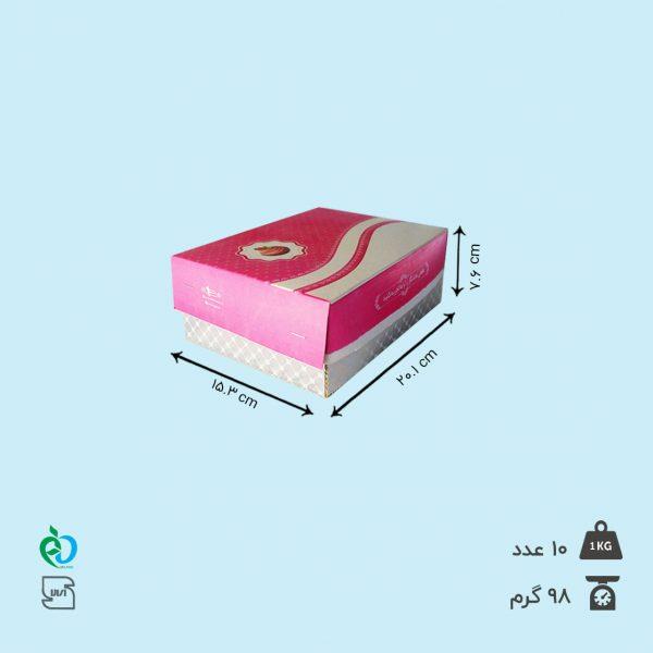 جعبه شیرینی نیم کیلویی