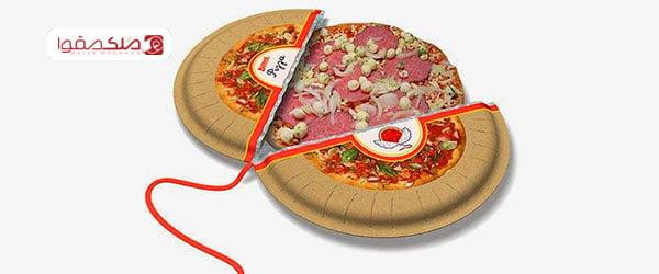 کاردستی با کارتون پیتزا