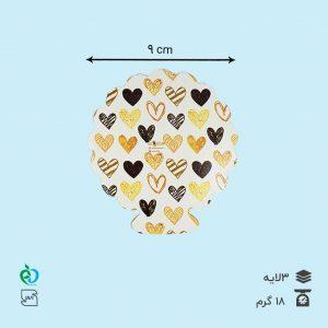 زیر دسری فانتزی طرح قلب قطر 9